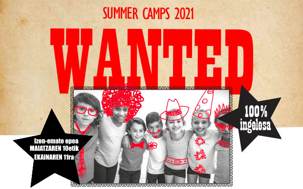 Summer Camps 2021 - WANTED